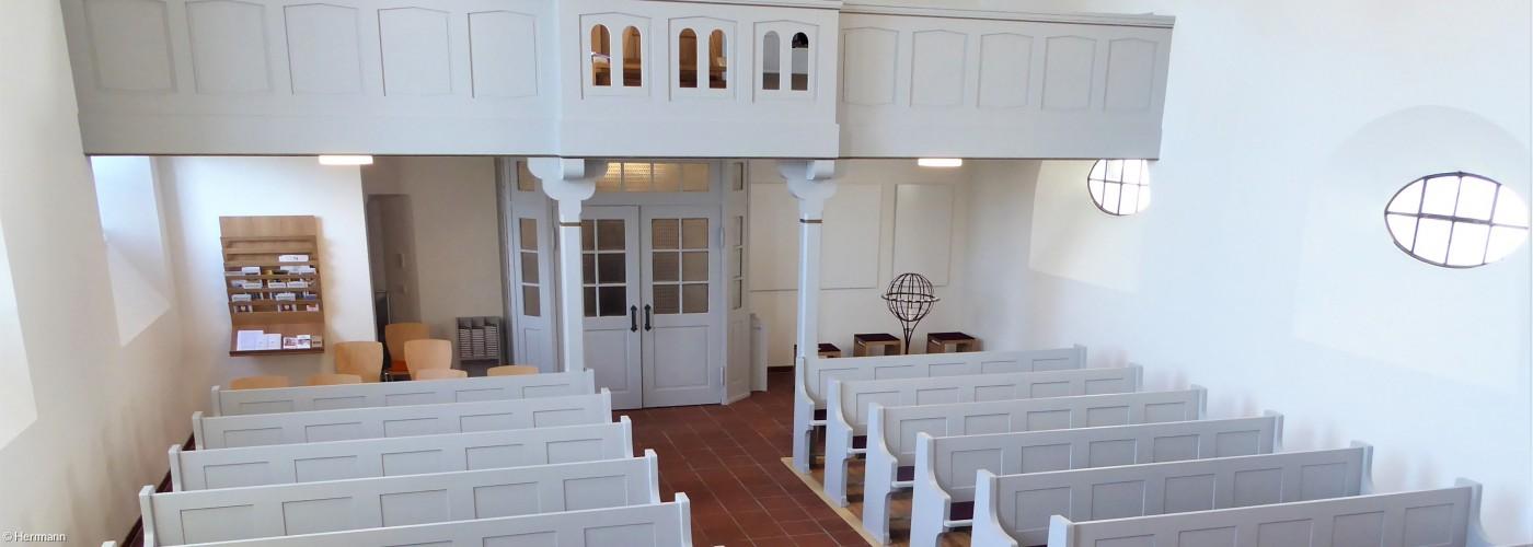 Blick von der Kanzel in die Dreifaltigkeitskirche